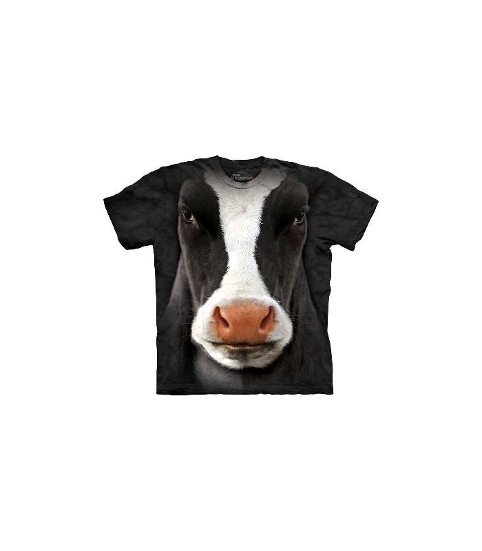 Black Cow Face - Cow T Shirt by the Mountain
