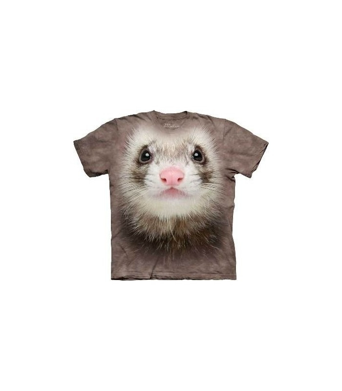 Ferret Face - Animals T Shirt by the Mountain