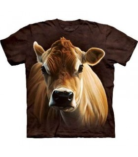 How Now Brown Cow - Cow T Shirt by the Mountain