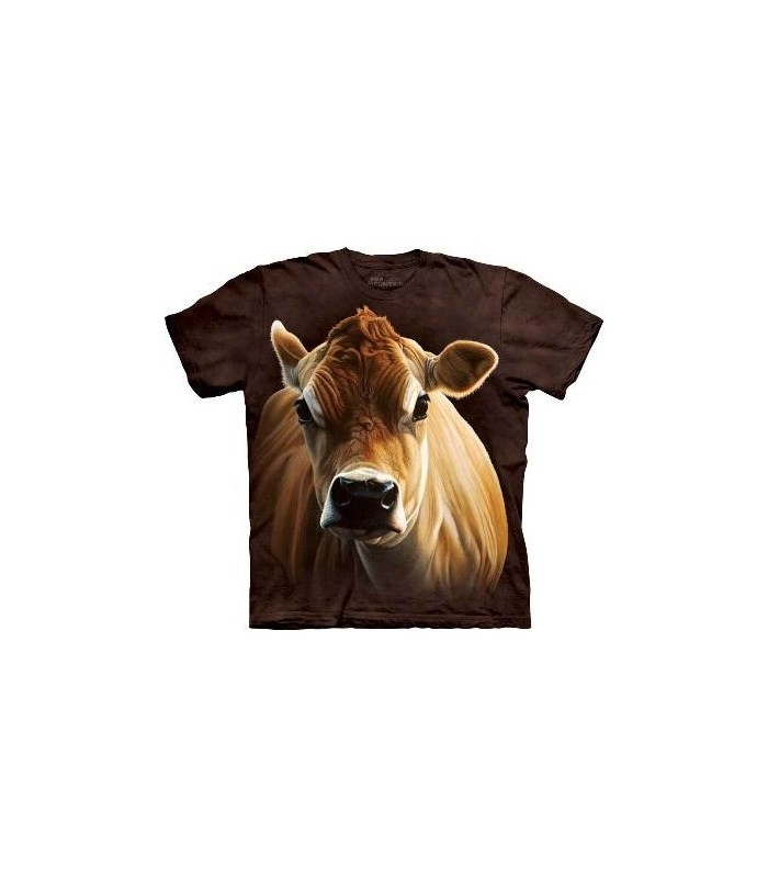 T-Shirt Vache Marron par The Mountain