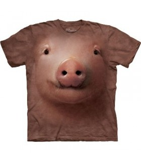 T-Shirt Cochon par The Mountain