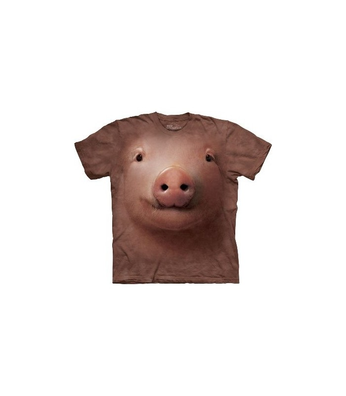 Pig Face - Animals T Shirt by the Mountain