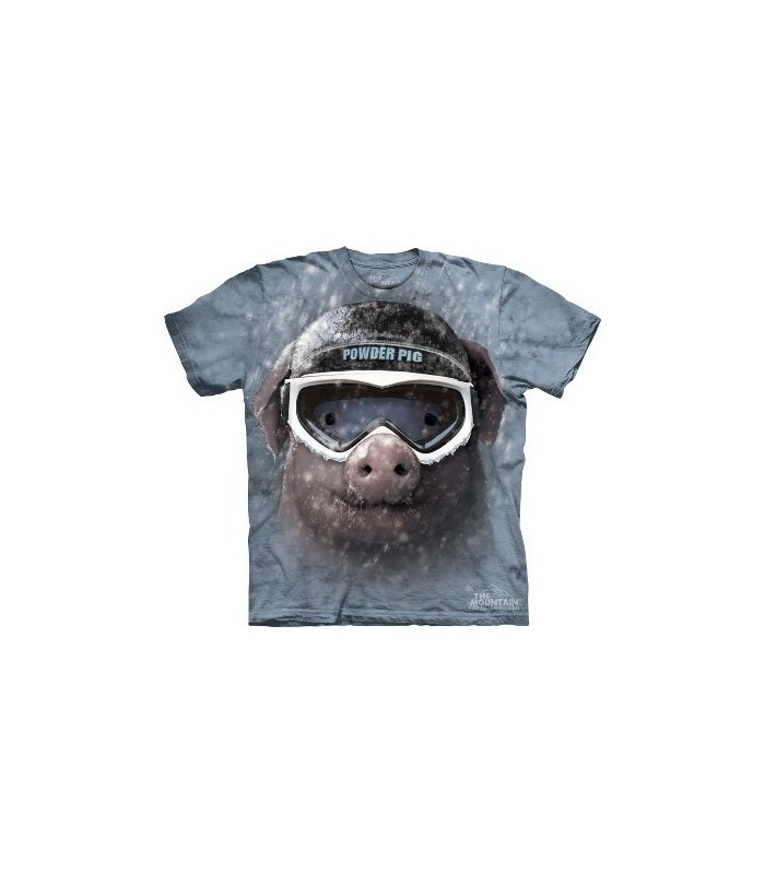 T-Shirt Cochon dans la neige par The Mountain
