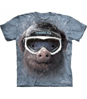 Powder Pig - Animal T Shirt Mountain