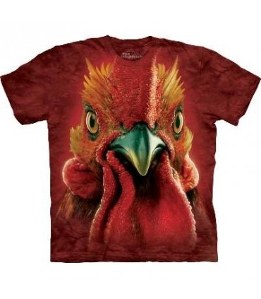 Rooster Head - Rooster T Shirt by the Mountain