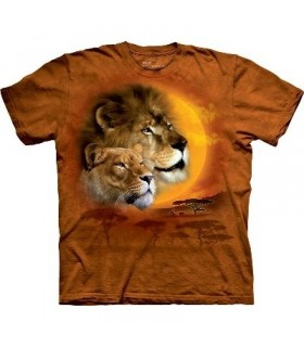 T-Shirt Lion et Soleil par The Mountain