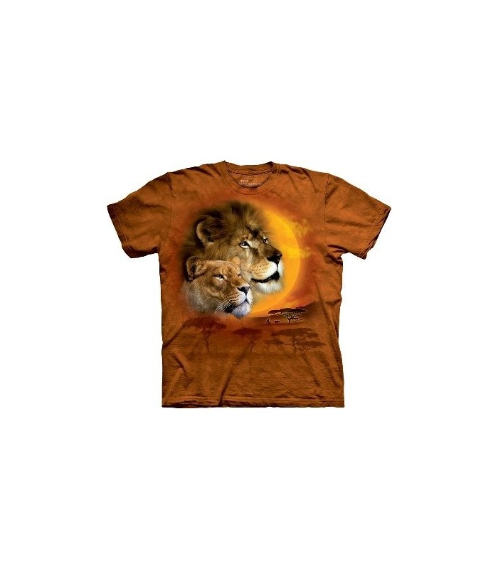 Lion Sun - Big Cats T Shirt by the Mountain