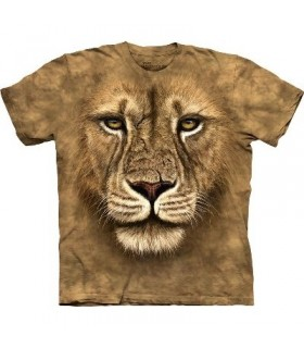 T-Shirt Guerrier Lion par The Mountain
