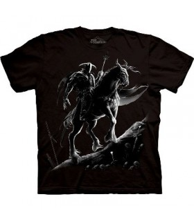 T-Shirt Chevalier Noir par The Mountain