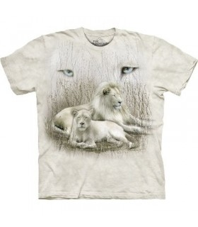 T-Shirt Lion Blanc par The Mountain
