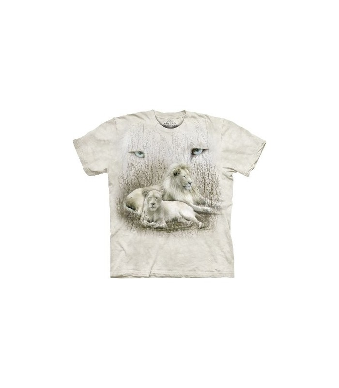 T-Shirt Lion Blanc par The Mountain