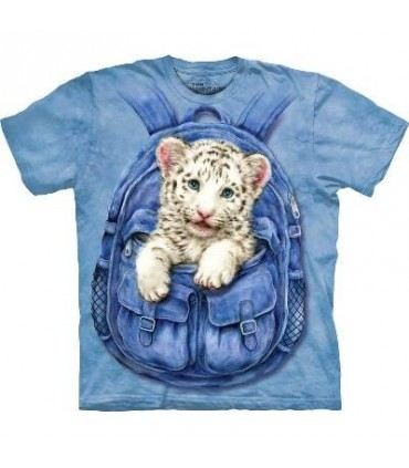 Backpack White Tiger - Big Cats T Shirt by the Mountain
