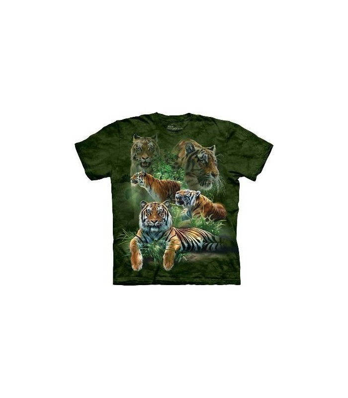 Jungle Tigers - Big Cats T Shirt by the Mountain