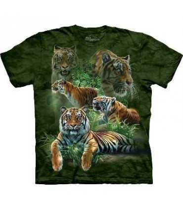 T-Shirt Tigres dans la jungle par The Mountain