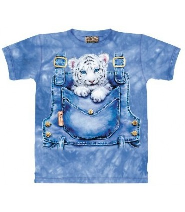 Pocket Tiger - Animal T Shirt The Mountain