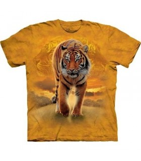 T-Shirt Tigre Soleil Levant par The Mountain