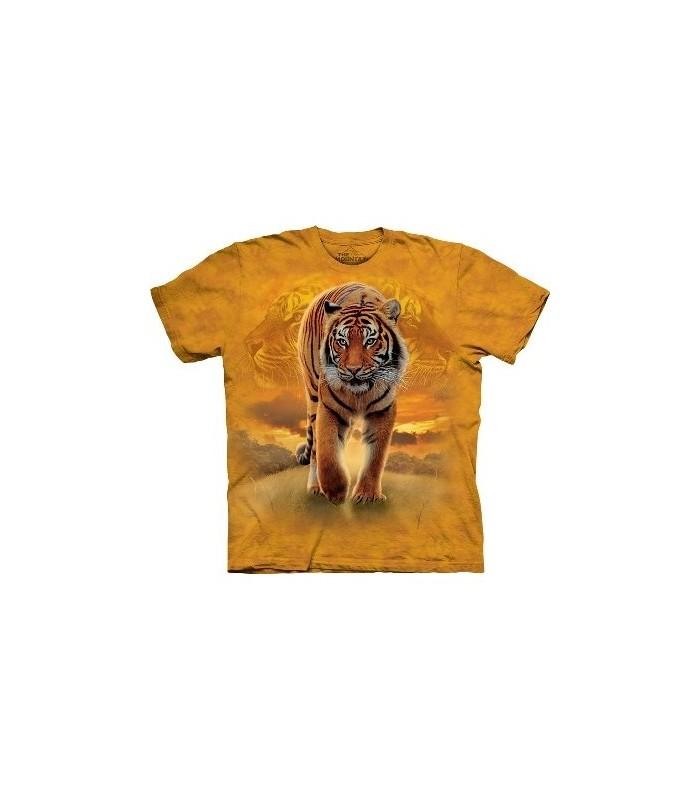 T-Shirt Tigre Soleil Levant par The Mountain