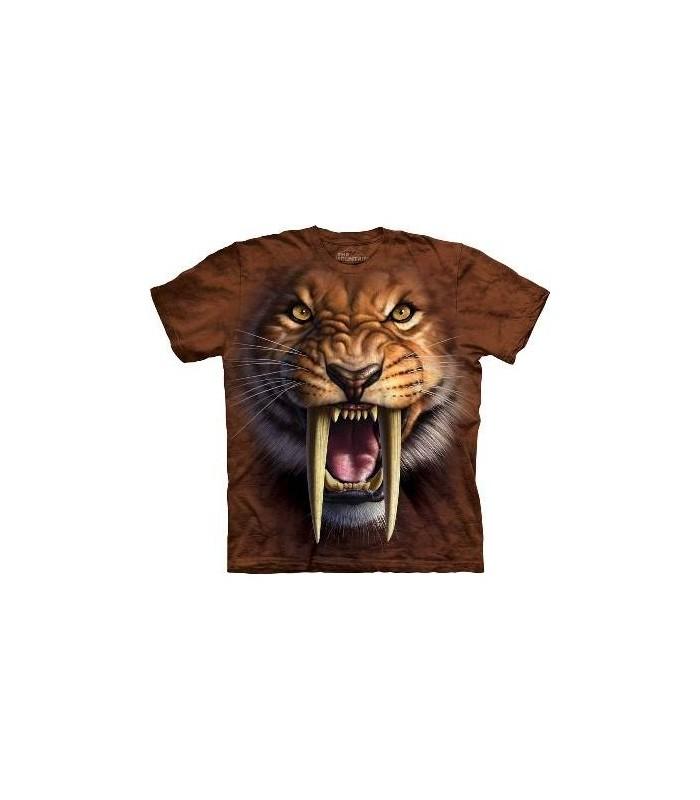 T-Shirt Tigre Dents de Sabre par The Mountain