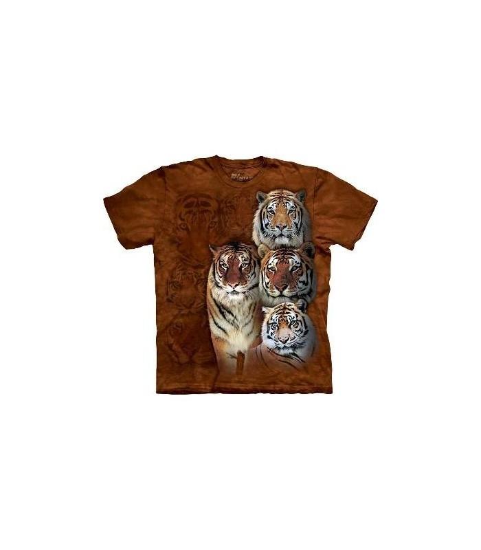 T-Shirt Tigres de Sibérie et du Bengale par The Mountain