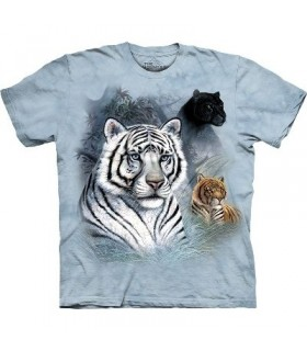 Three Cats - Animal T Shirt by the Mountain