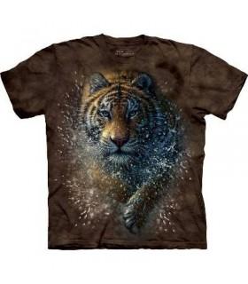T-Shirt Tigre dans l'eau par The Mountain