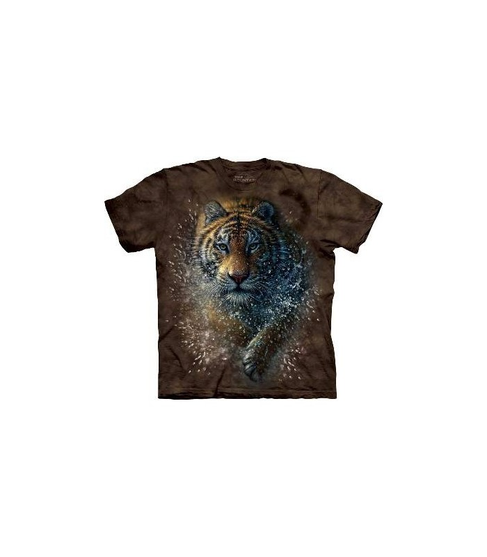 Tiger Splash - Big Cats T Shirt by the Mountain
