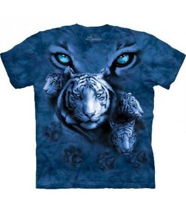 T-Shirt Yeux du Tigre Blanc par The Mountain
