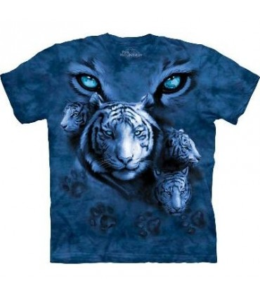 White Tiger Eyes - Big Cats T Shirt by the Mountain