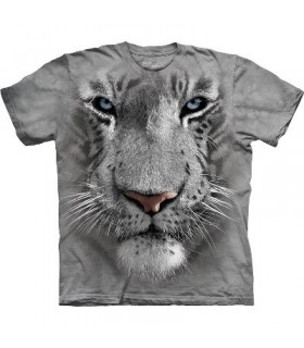 T-Shirt tête de Tigre Blanc par The Mountain