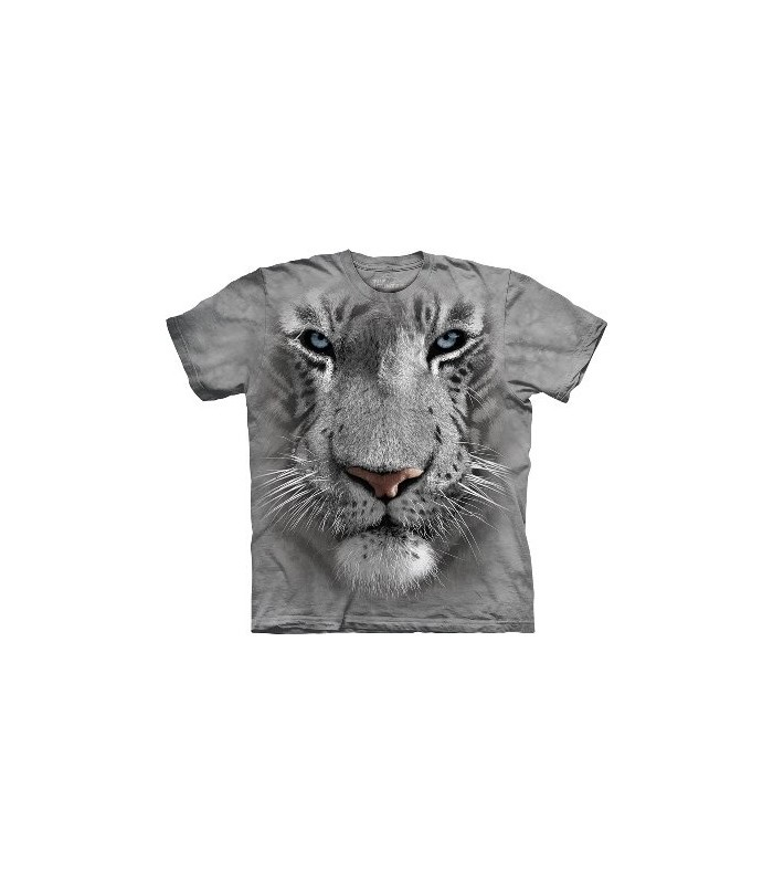 White Tiger Face - Big Cats T Shirt by the Mountain