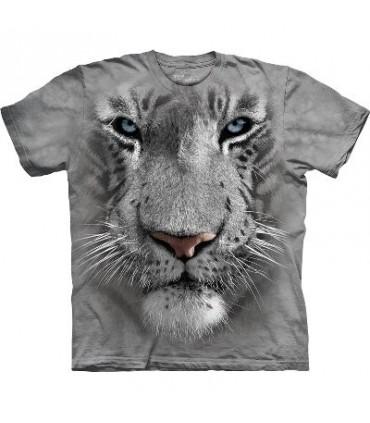 T-Shirt tête de Tigre Blanc par The Mountain