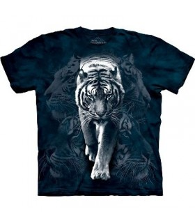 White Tiger Stalk - Zoo Animals T Shirt by the Mountain