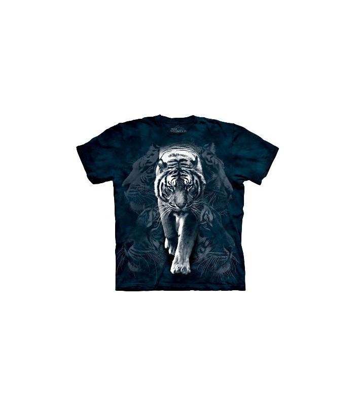 T-Shirt Tigre Blanc par The Mountain