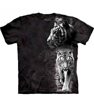 T-Shirt Tigre Blanc par The Mountain