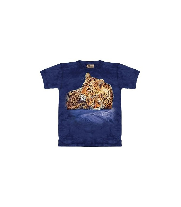 Leopard & Cub on Rock - Zoo Animals T Shirt by the Mountain