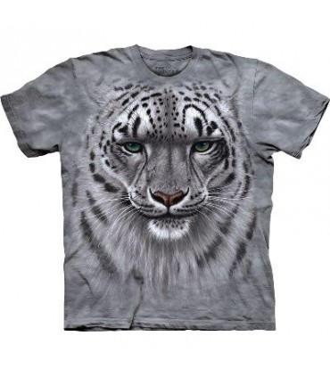 Snow Leopard Portrait - Big Cats T Shirt by the Mountain