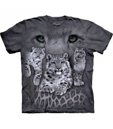 Snow Leopards - Big Cat T Shirt by the Mountain
