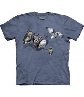 Owl Collage - Bird Shirt The Mountain