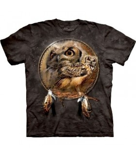 Owl Shield - Birds T Shirt by the Mountain