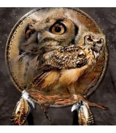 Owl Shield - Birds T Shirt by the Mountain