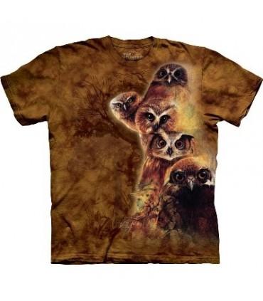 T-Shirt Totem de Chouettes par The Mountain