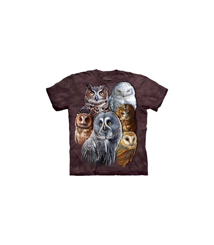 Owls - Birds T Shirt by the Mountain