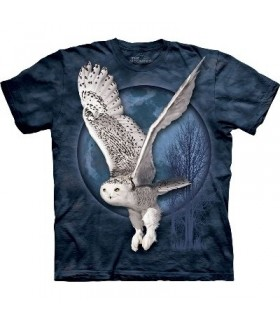T-Shirt Hibou et Lune par The Mountain