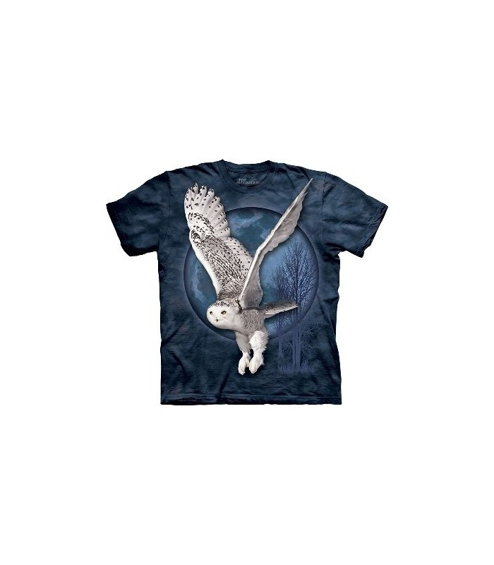 Snow Owl Moon - Birds T Shirt by the Mountain