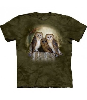 Three Owl Moon - Bird T Shirt by the Mountain