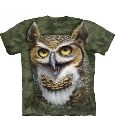 Wise Owl - Bird T Shirt Mountain