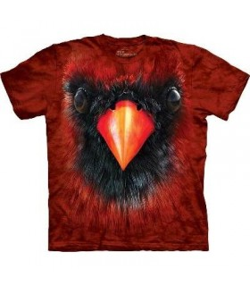 Cardinal Face - Bird T Shirt Mountain