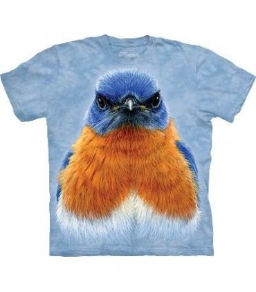 Eastern Bluebird Portrait - Bird T Shirt Mountain