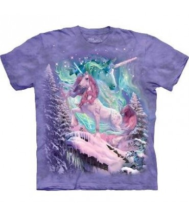 Aurora Unicorn - Fantasy T Shirt by the Mountain