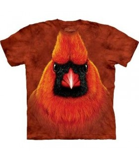 Red Cardinal Portrait - Birds T Shirt by the Mountain